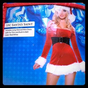 Santa's Saint naughty Xmas minidress costume 🍒